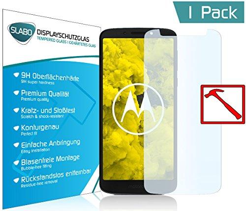 Slabo Premium Panzerglasfolie für Motorola Moto G6 Play Panzerfolie Schutzfolie Echtglas Folie Tempered Glass KLAR 9H Hartglas