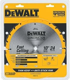 DEWALT DW3112 Series 20 10-Inch 24 Tooth ATB Thin Kerf Saw Blade with 5/8-Inch Arbor
