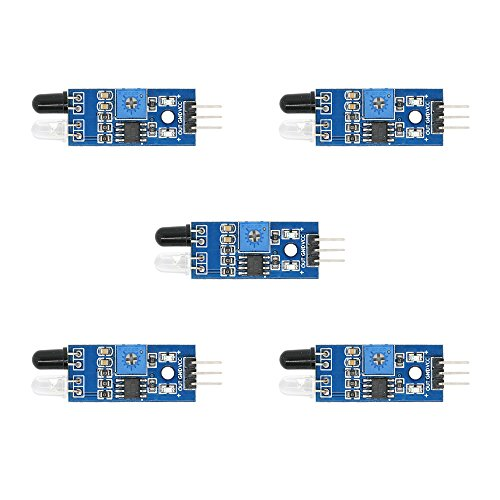 IR Infrared Detector Obstacle Avoidance Sensor Module for Arduino Smart Robotic Car 5 Pcs