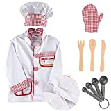 MaMiBabys Kochkostüm, Verkleidung, Spielset mit Hut, Ofenhandschuh, Messer, Gabel, Löffel,...