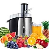 PureMate 1000W NaturoPure Powerful Whole Fruit and Vegetable Juice Extractor, Centrifugal Juicer Machine with...