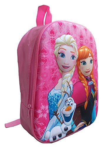 Zaino 3D 3877 Frozen Elsa Anna Olaf Disney Asilo Borsa Scuola Tempo Libero