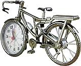 DFGBXCAW Reloj Despertador con números arábigos Vintage, patrón de Bicicleta Retro, Mesa de Escritorio Creativa, Reloj de Cuarzo Digital, decoración del hogar