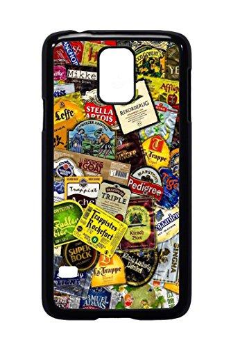 Bkstuff Cover Custodia TPU Birre Etichette STICKERBOMB per Vari Modelli (Samsung Galaxy S5)