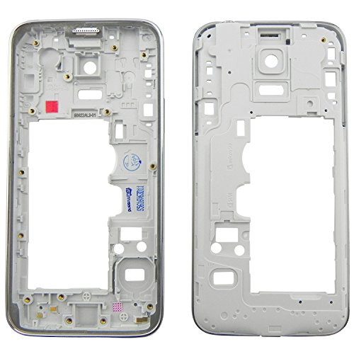 TOKA-VERSAND® - Mittelrahmen für Samsung Galaxy S5 Mini G800F Mittel Rahmen Premium Gehäuse Mittelgehäuse [ohne Teile] Silber