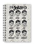 SD TOYS - Quaderno A5 Joker DC Comics, per Adulti, Unisex, Multicolore, 15 x 21 cm