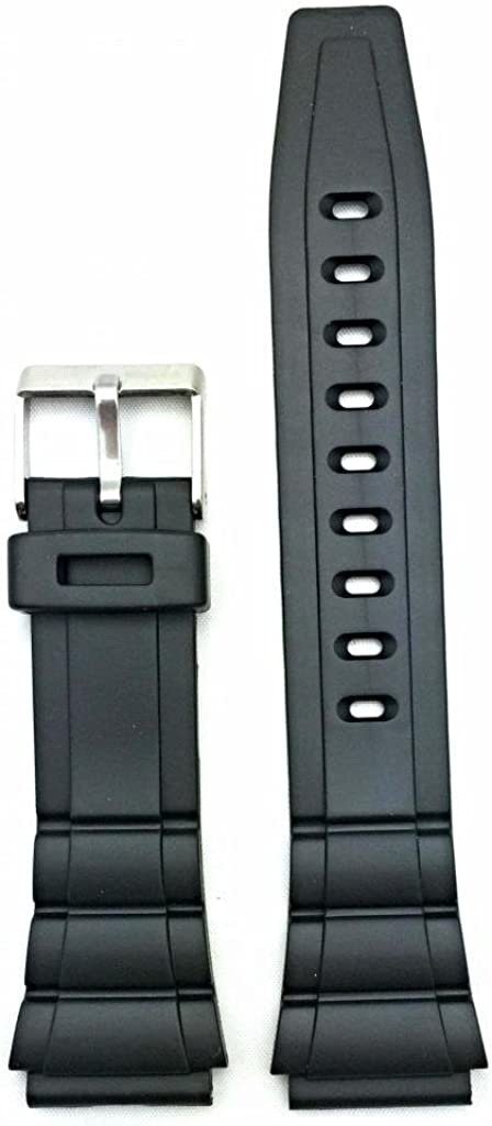 List price 20mm Max 82% OFF Black Rubber PVC Material Comfortable Dura Watch and Band