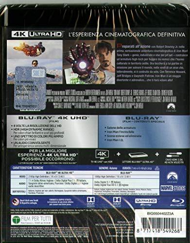 Blu-Ray - Iron Man (Blu-Ray 4K Ultra Hd+Blu-Ray) (1 BLU-RAY)