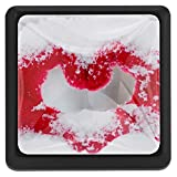 EZIOLY Love_Heart_Snow_Hands Eckige Küchengriffe für Schränke/Kommode/Schrankknöpfe, 3 Stück