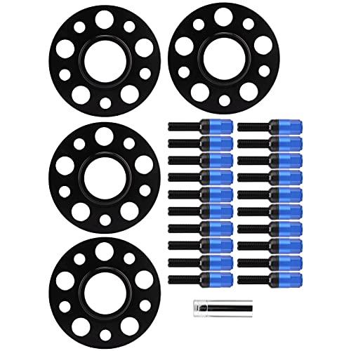 Fydun Juego de espaciadores de Rueda, 4 Piezas de Aluminio de 15 mm 6061-T6 de Repuesto para W202 ‑ C Class ‑ C220 1994‑2000(Azul)