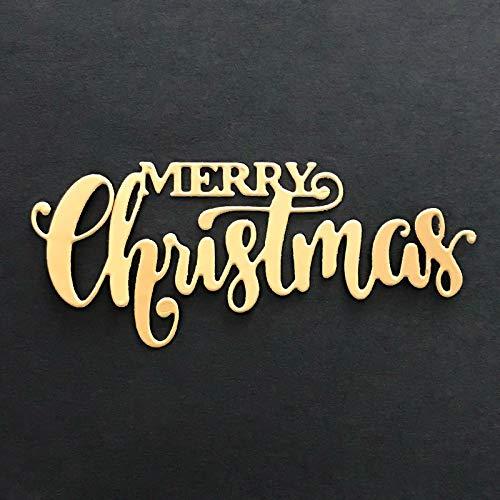 Merry Christmas Dies Cut Word Cutting Dies,DIY Scrapbooking Artist Metal Cutting Dies Stencils New 2019 Christmas Dies for Card Making Craft Dies Scrapbooking