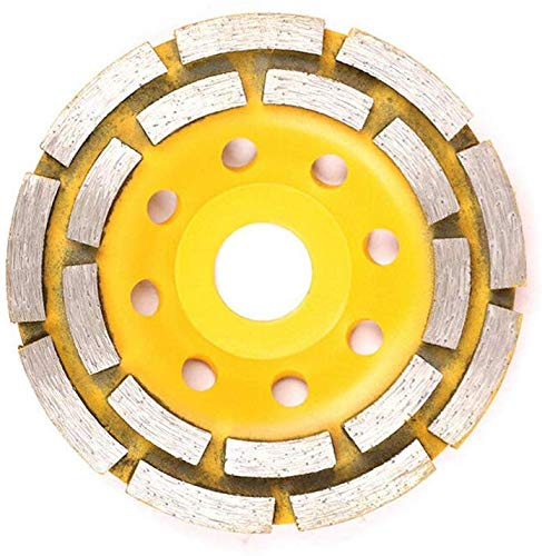 iSunday 4.5 Inch Diamond Cup slijpen wielen dubbele rij segmenten betonnen hoek slijper