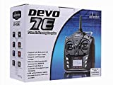 Dancing Wings Hobby RC Aeroplane & Helicopter Walkera DEVO 7E 2.4G 7CH Transmitter with DSSS Format and 601 Receiver Radio Control Transmitter American Hand (Left Hand Accelerator) TX108L