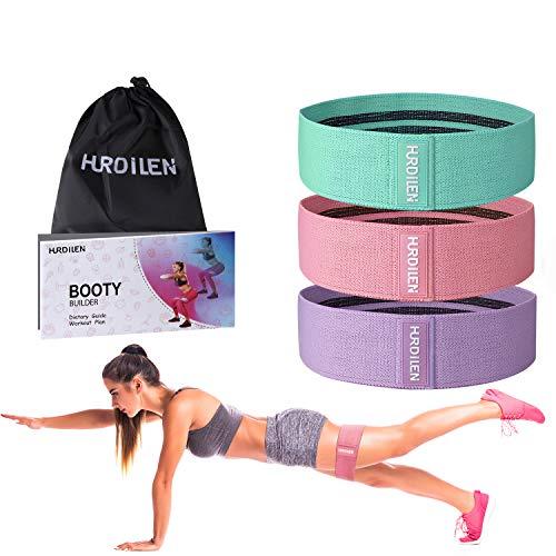 Hurdilen Bandas Elasticas Musculacion, Bandas Elásticas Set con 3 Bandas de Resistencia y bolsas de transporte, Soporte para Pilates, Yoga, Crossfit, Musculación, Fisioterapia