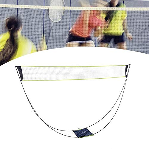 give your best Portable Badminton Net with Stand Carry Bag, Folding Volleyball Tennis Badminton Net – Easy Setup for for Outdoor/Indoor Court, Backyard, No Tools or Stakes Required
