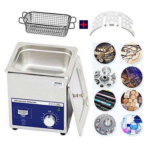 Ultraschallreiniger, digitale Maschine mit Zeitschaltuhr aus Edelstahl, für Badezimmer, Elektronische Laborreinigung, Usine Schmuck für den privaten Gebrauch 2L+Basket+Rack