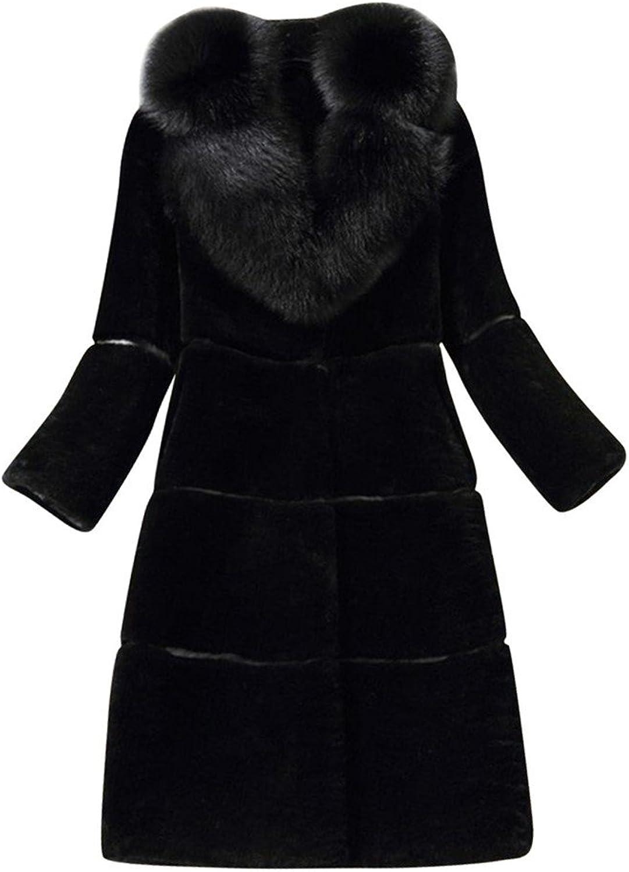 ACE SHOCK Faux Fur Coat Women MDLong, Adults Warm Winter Jacket Casual Outwear 3 colors XSXL
