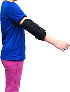 Elbow Splint Brace for Kids Pediatric Arm Elbow Immobilizer Carpal Tunnel, Ulnar Nerve Brace, Fractured Stabilizer, Injuries, Broken, PM Night Protector Support Wrap (S)