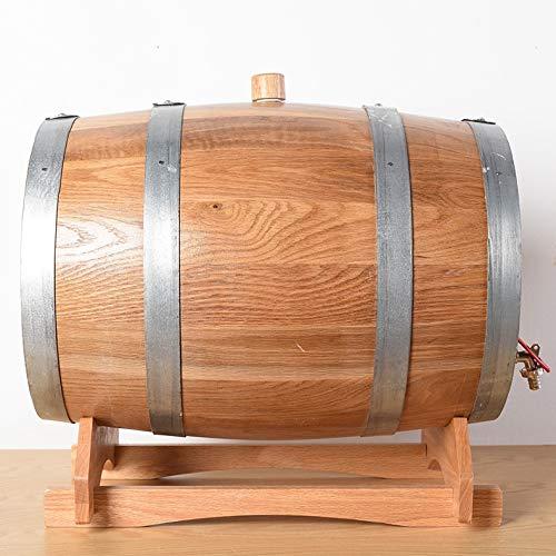 Unbekannt 20L Gutless Weinfässer, Holzfass Rotwein Barrels Horizontal Schwarzer Strich Bierfässer (Size : 20L)