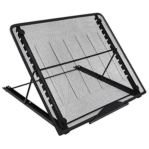 ZLININ Soporte de malla ajustable para ordenador portátil, color negro, plegable, para ventilación y portátil, portátil, para ordenador portátil, tableta