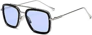 Lunettes Spiderman Edith,Rétro square des lunettes de soleil cadre métallique pour hommes et femmes lunettes de soleil cla...
