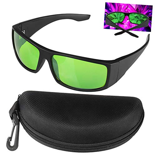 Grow Room LED Light Brille, Gläser Gegen UV, IR, Strahlen Schutzbrille Augengläser für Indoor Gardens Gewächshäuser Hydroponics