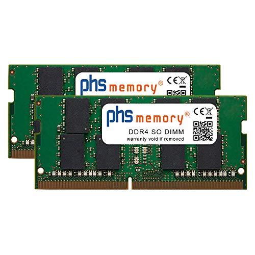PHS-memory 64GB (2x32GB) Kit RAM Speicher passend für Apple iMac Core i9 3.6GHz 27-Zoll (5K, Early 2019) DDR4 SO DIMM 2666MHz PC4-2666V-S