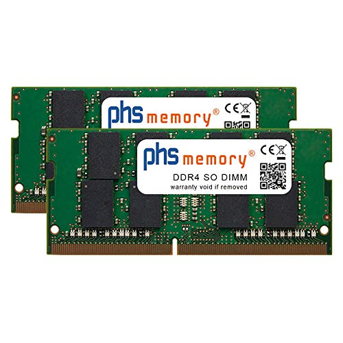PHS-memory 64GB (2x32GB) Kit RAM Speicher für Apple iMac Core i9 3.6GHz 27-Zoll (5K, Early 2019) DDR4 SO DIMM 2666MHz PC4-2666V-S
