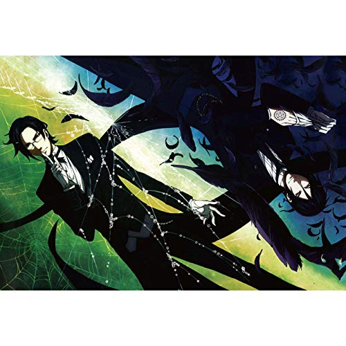 Jigsaw Puzzles Black Butler Decompression Personalised Assembling Toy Puzzle Halloween Creativity Gifts 300/500/1000/1500 Pieces (Size : 1000Pieces)