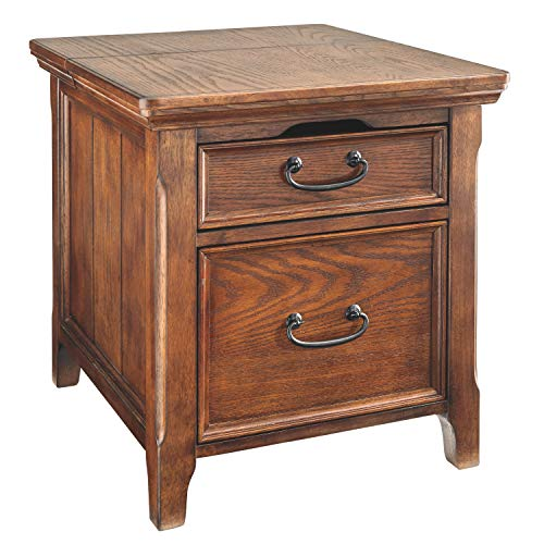 Signature Design by Ashley Woodboro Media End Table Dark Brown Finish