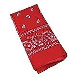 Red Cowboy Bandana Biker Scarf Neck Tie Fancy Dress (accesorio de disfraz)