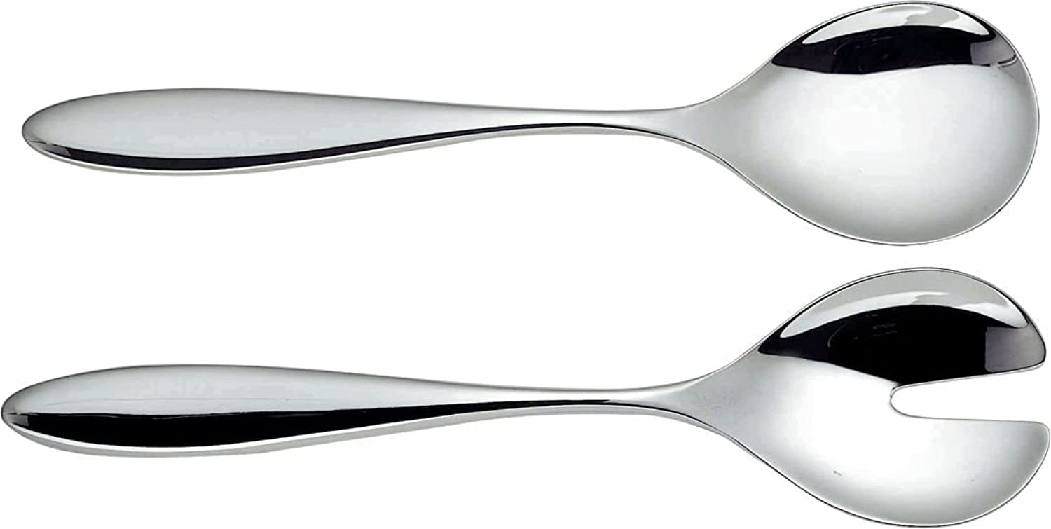 Alessi Mami 10-1 4-Inch by Salad Set, Mirror Polished