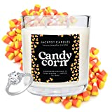 Jackpot Candles Candy Corn Candle with Ring Inside (Surprise Jewelry Valued at 15 to 5,000 Dollars) Ring Size 6