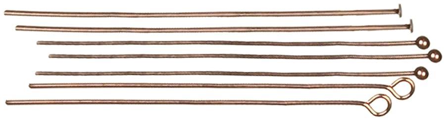 Cousin Jewelry Basics Head Pin/Eye Pin, Copper, 135-Piece
