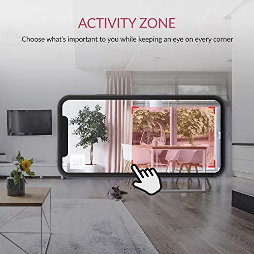 YI 1080p Home Camera, Indoor 2.4G IP Security Surveillance System with 24/7 Emergency Response, Night Vision for Home/Office/Baby/Nanny/Pet Monitor with iOS, Android App - Cloud Service Available