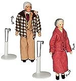alles-meine.de GmbH 2 Set: Großelterm - Oma + Opa - Puppe für Puppenstube - Maßstab 1:12 -...