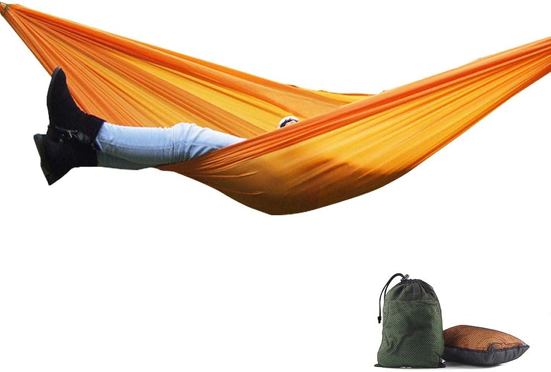 Hamaca que Acampa portátil, cama al aire Libre Impermeable Ligera versátil del paracaídas de Nylon para Max.Load de 90kg