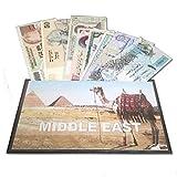 IMPACTO COLECCIONABLES Billetes del Mundo - Colección de Billetes - 8 Billetes Diferentes de Oriente Medio