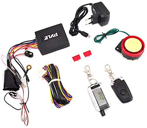 Pyle Upgraded WatchDog Motorcycle Alarm - Anti Theft Security System - Auto Re-Arm Remote Auto Start ECU Transmitter High Power Speaker - PLMCWD75