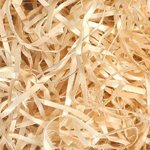 Lana de madera triturada al horno apropiada para rellenar cestas y paquetes de regalos, con material de embalaje protector para transporte 1 kg
