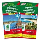 Sardinien Nord und Süd, Autokarten-Set 1:150.000: Top 10 Tips: Set wegenkaarten 1:150 000 (freytag & berndt Auto + Freizeitkarten)