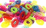 Sandar 20 pcs Colorful Telephone Wire Elastic Rubber Bands Hair Rings Gum Braiding Tools Hair Rope Ties for Babies & Children