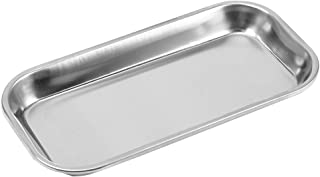 Medical Stainless Steel Instrument Tray Lab Instrument Dental Tool 8.85 x 4.52 x 0.78