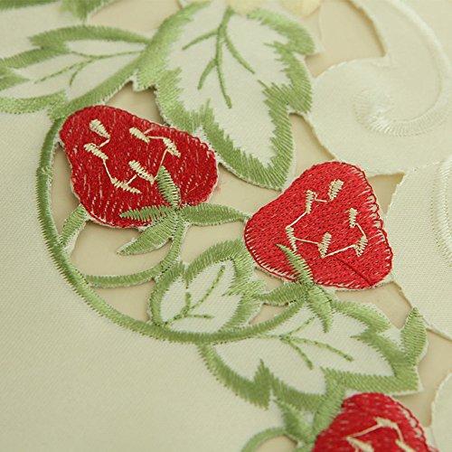Roze p!nk Europese klassieke borduurwerk tafel loper tafelkleed koffietafel doek stof bed loper 40x150cm(16x59inch) B