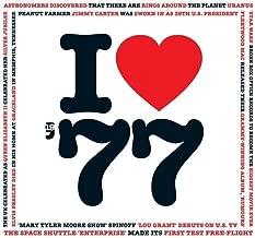 1977 Birthday Gift - I Love 1977 Compilation Music Hits CD - 20 Original Songs - 1977 Year Greeting Card