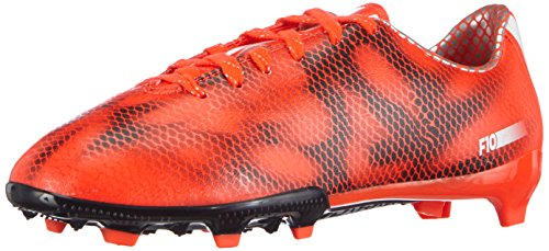 adidas F10 Firm Ground, Jungen Fußballschuhe, Rot (Solar Red/Ftwr White/Core Black), 32 EU (13.5 Kinder UK)