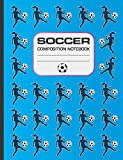 Soccer Composition Notebook: 120 page notebook for writing, wide ruled. Glossy softcover, perfect bound. Girls soccer themed.