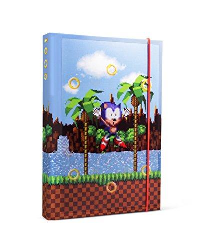 Half Moon Bay NBA5SE01 17 (w) x 21 (h) x 2 (d) cm Taccuino Sonic the Hedgehog Lenticular A5 Wiro - Anelli