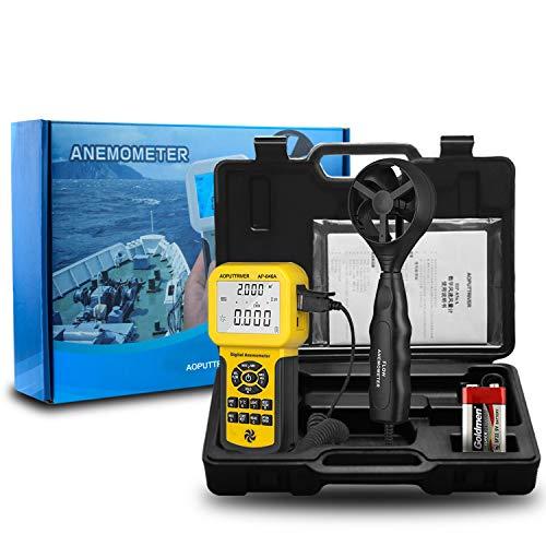 AOPUTTRIVER Anemómetro Digital Pro Anemómetro USB de Mano HVAC Medidor de Velocidad...