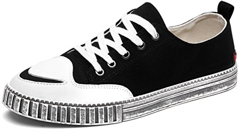 Men fashion, casual canvas shoes men's tidal canvas shoes tied with canvas shoes,black,Forty-two